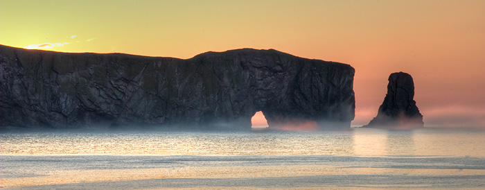 Perce Rock in early morning